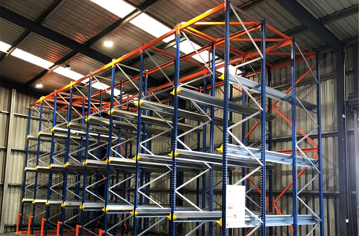 Longspan shelving example located in a Melbourne warehouse