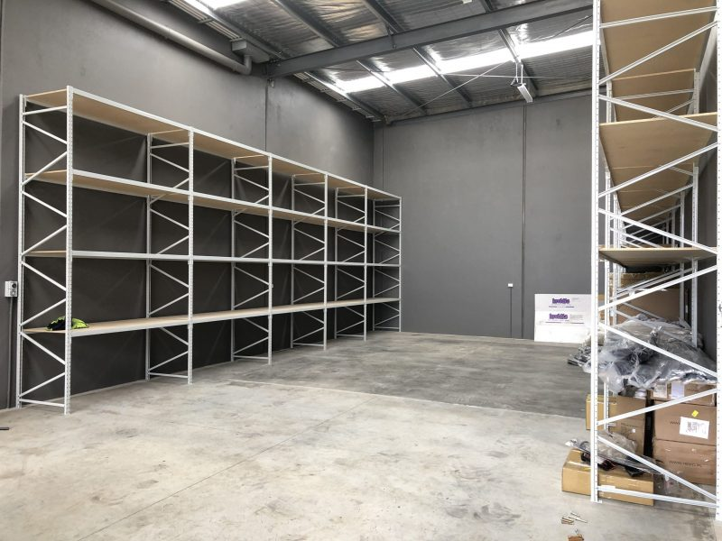 Industrial shelving example located in Melbourne