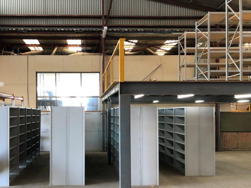 """Rolled Upright Type"" (RUT) Shelving Units Melbourne Warehouse"